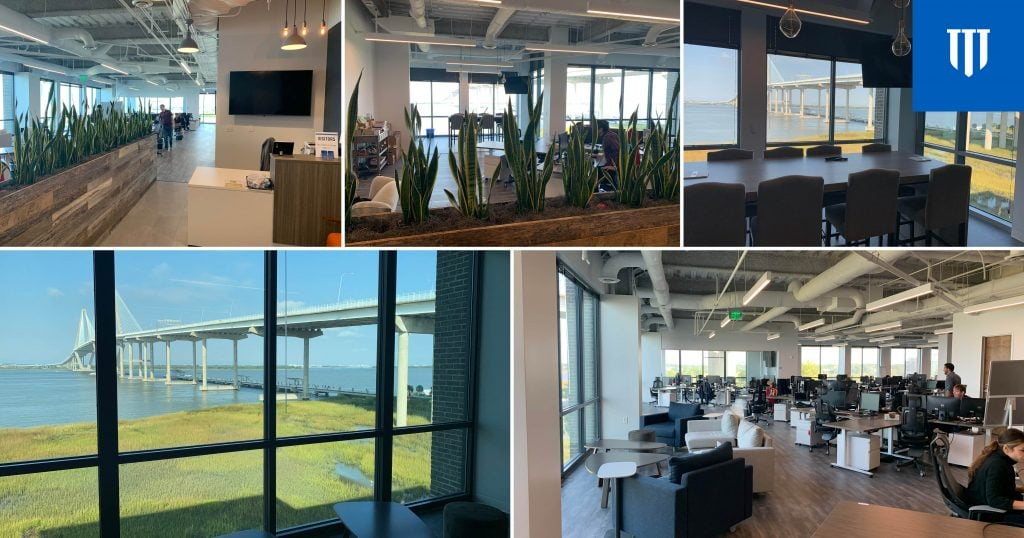 Creative space design and iconic views complete TIAG's Charleston office